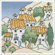 M.Powell Mini x38 Spanish Cottages 6 JCrStitch